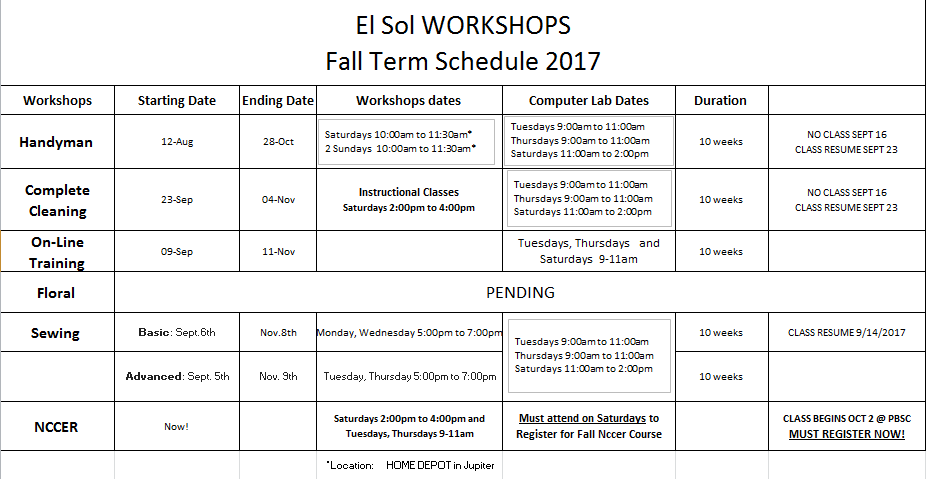 Fall Schedule Image for Website